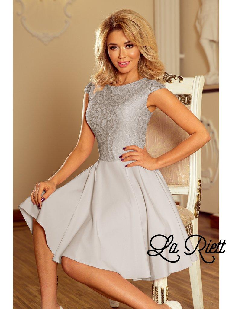 Elegantné sivé šaty 157-6