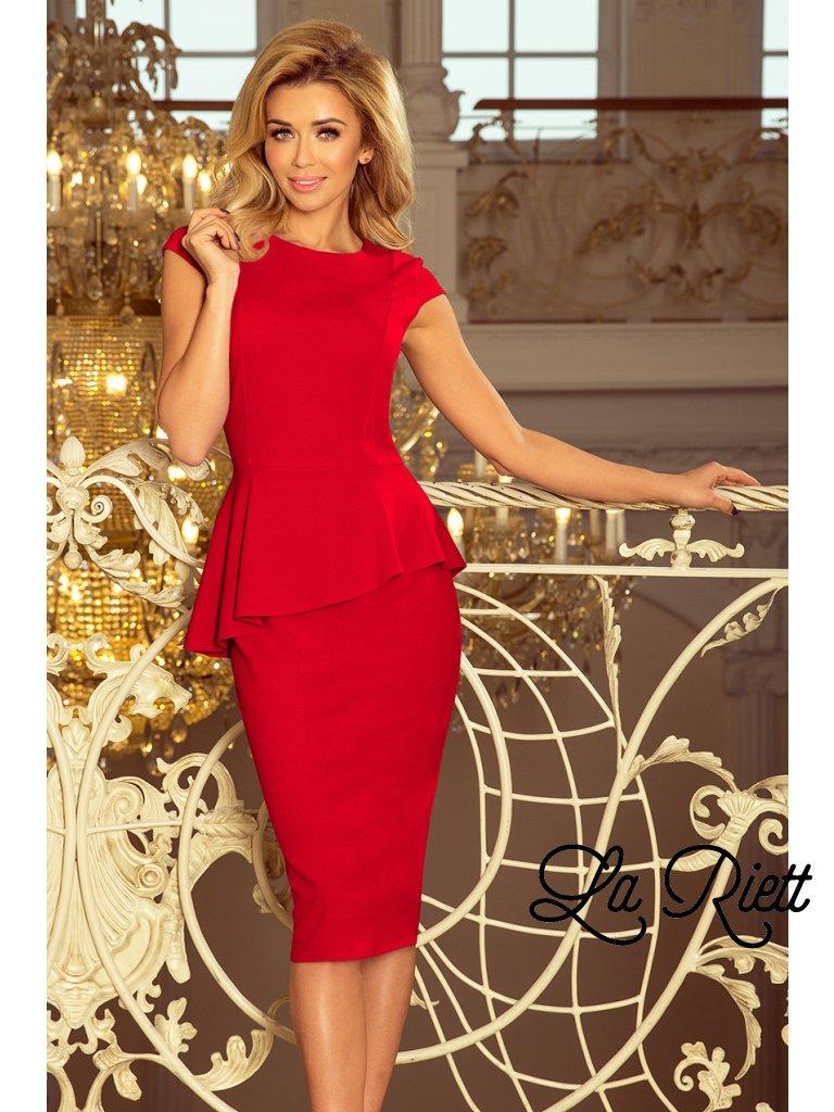 Elegantné šaty s volánikom 192-5