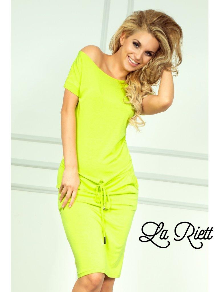 Sporty dress - NEON Lemon 56-3 (Veľkosť XL)