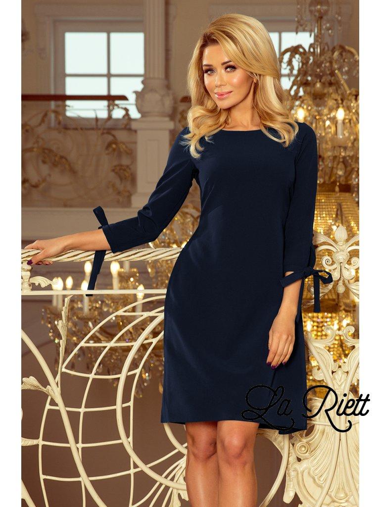 Šaty s viazanim  tmavo modrá 195-5