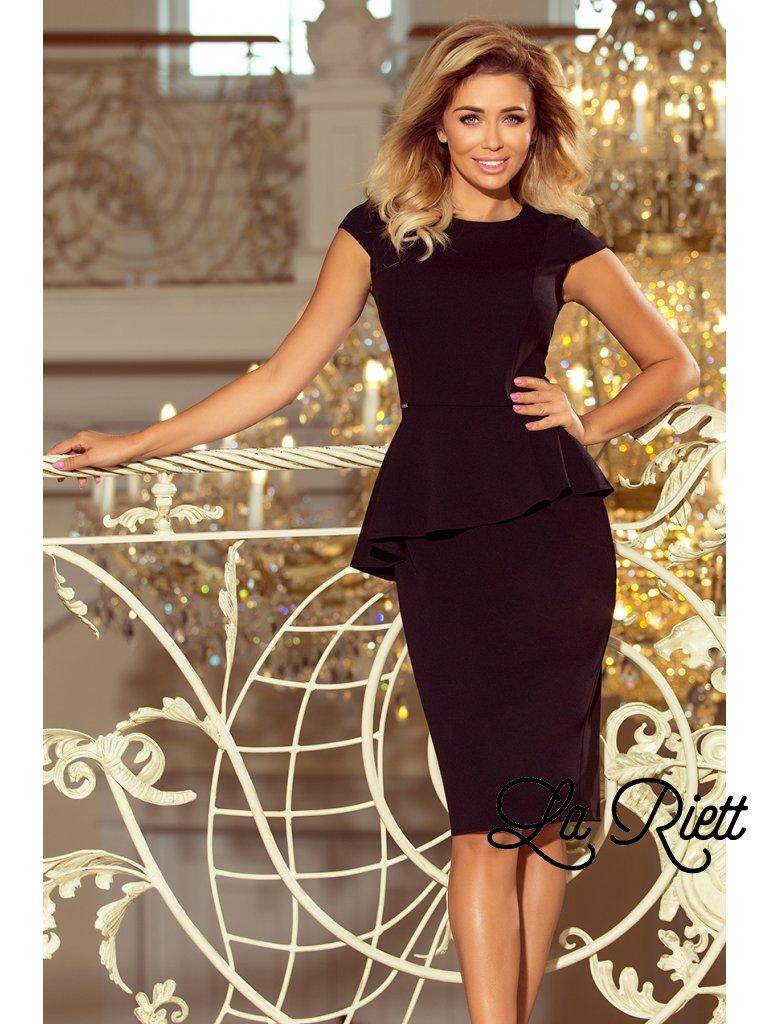 Elegantné šaty s volánikom 192-3