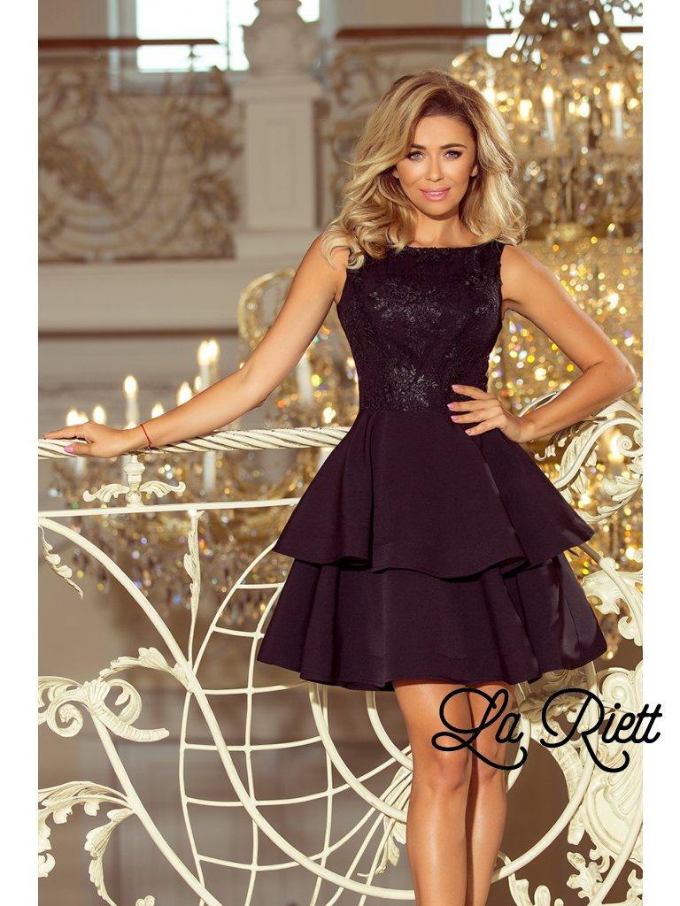 Dámske spoločenské šaty čierne 206-2