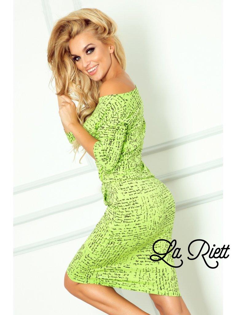 Sporty dress - paper + Green 13-35 (Veľkosť XS)