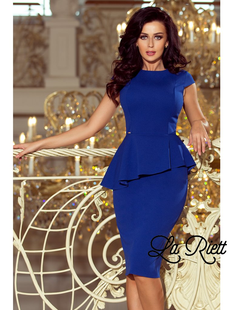 Elegantné šaty s volánikom 192-7