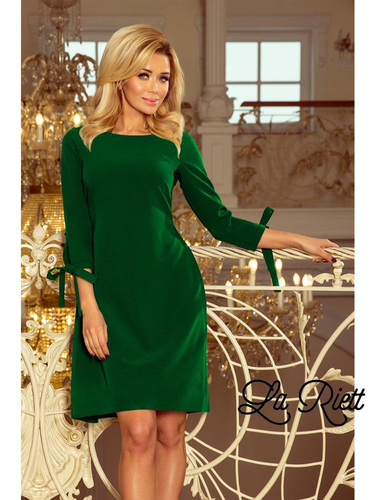 Šaty s viazaním zelené 195-7