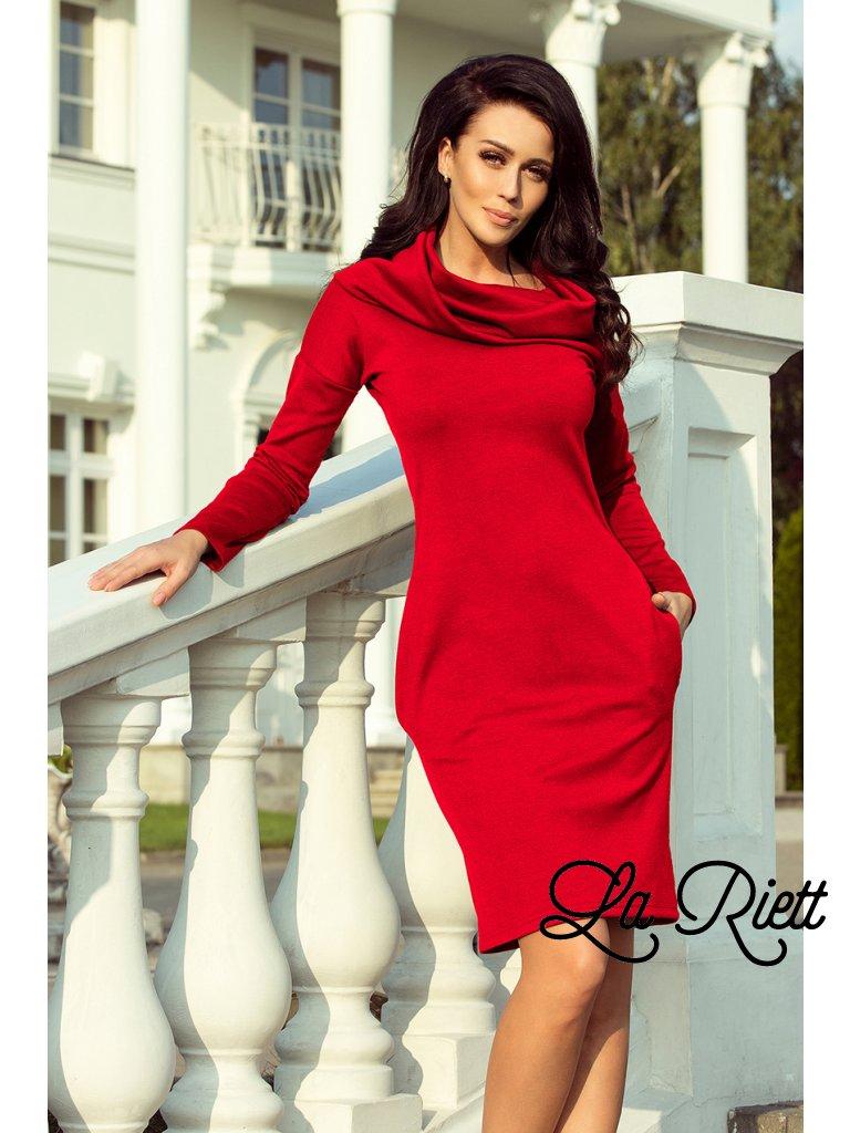 Šaty s vreckami a velkym golierom červen 131-9