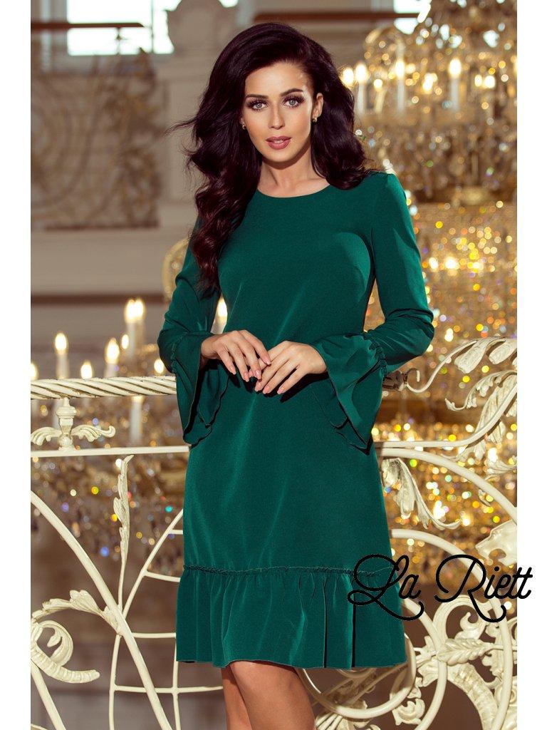 Zelene šaty s volánmi 226-1