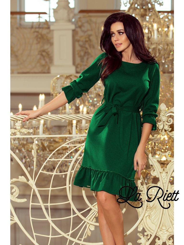 Dámske šaty s volánikmi zelene 193-8