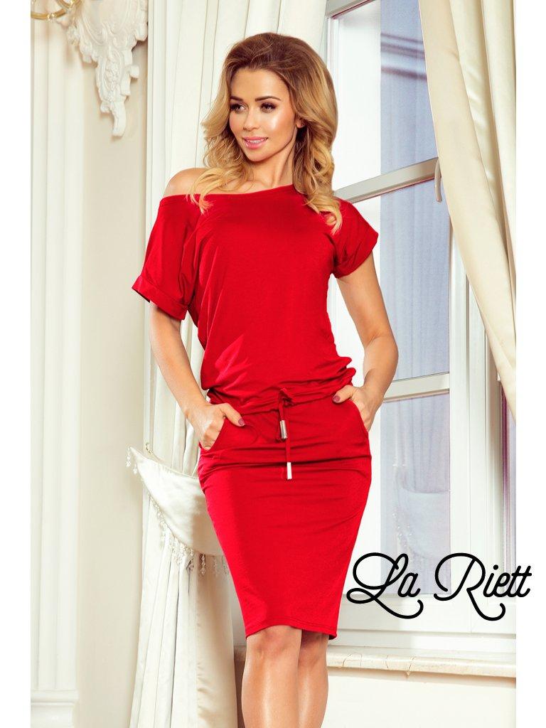 Športové šaty red 139-4