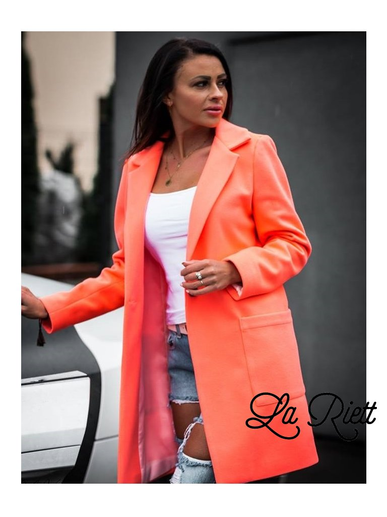 Kabát neon orange
