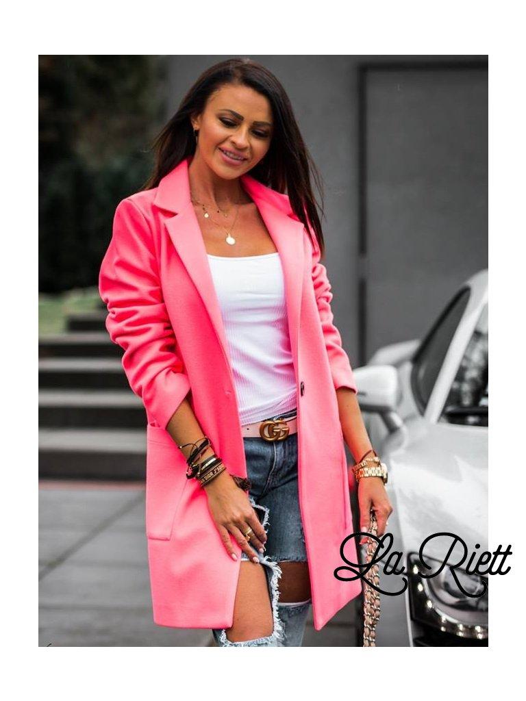 Kabát neon pink