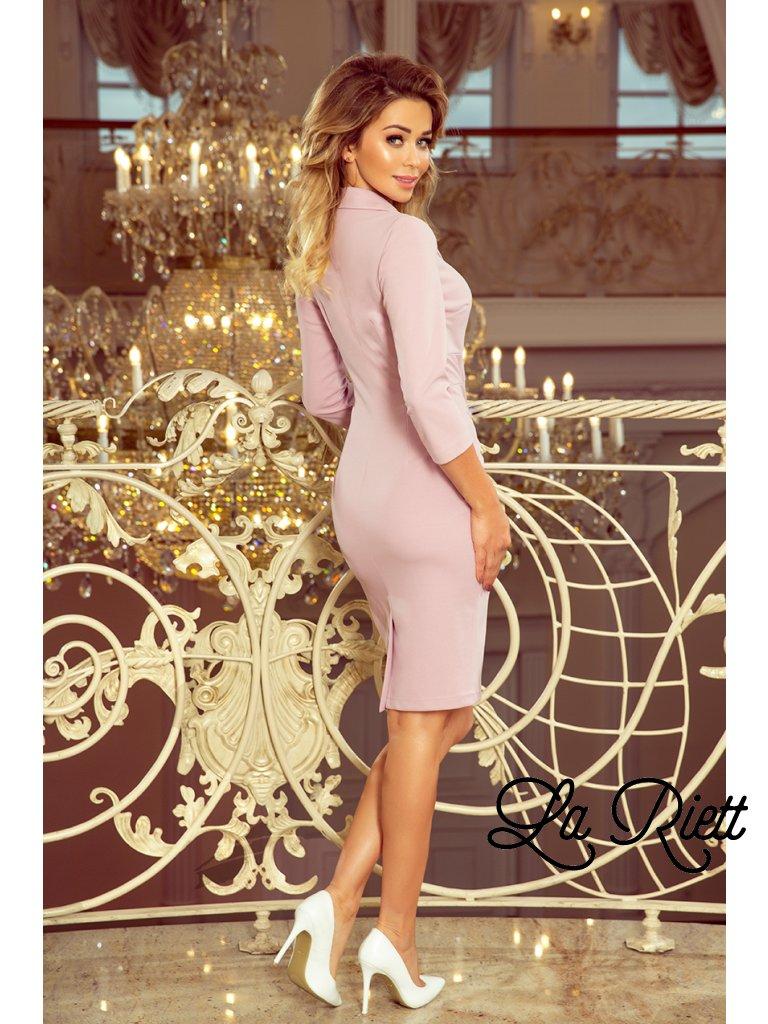 Elegantné šaty lila 237-1