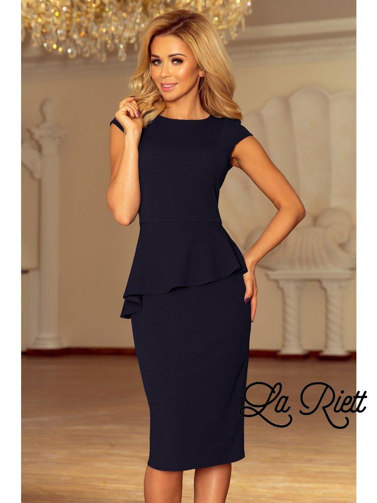 Elegantné šaty s volánikom 192-4
