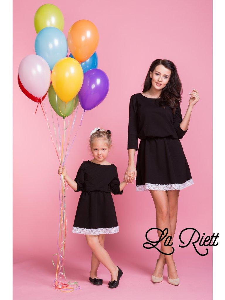 Šaty s čipkou čierne