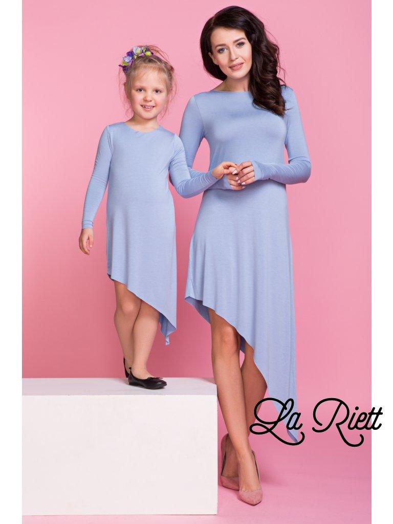 Asymetrické šaty light blue