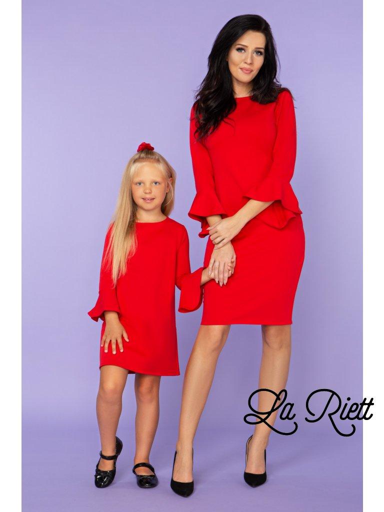 Elegantné šaty červené