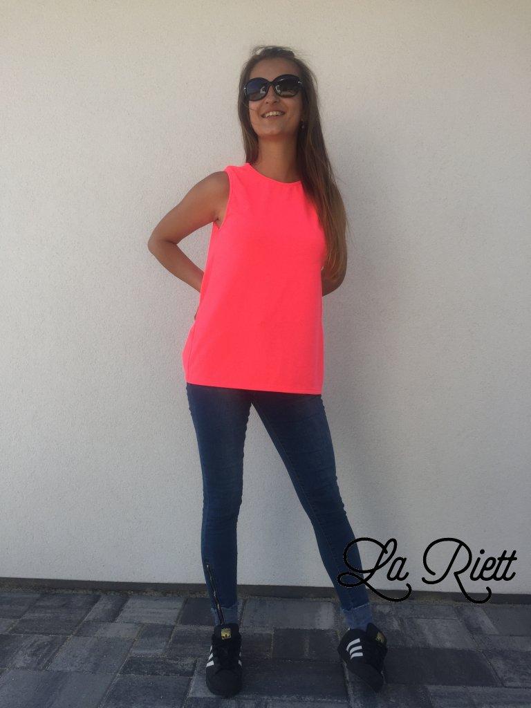 Bavlnené tričko neon pink