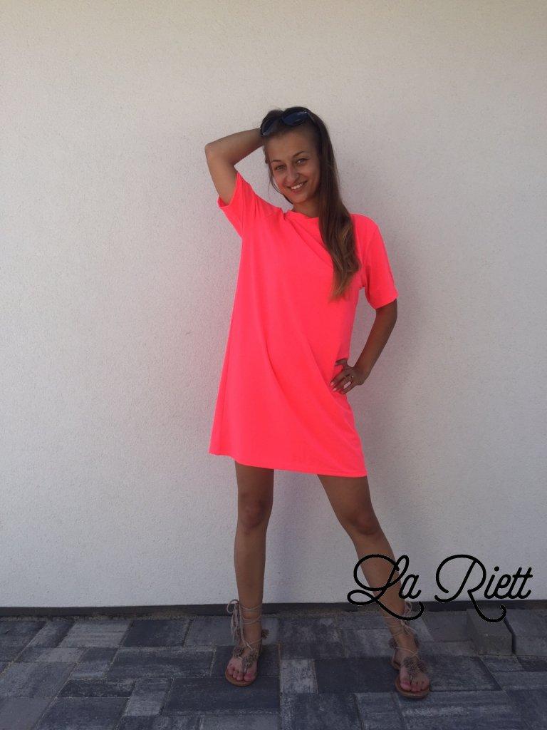Oversize tričko pink