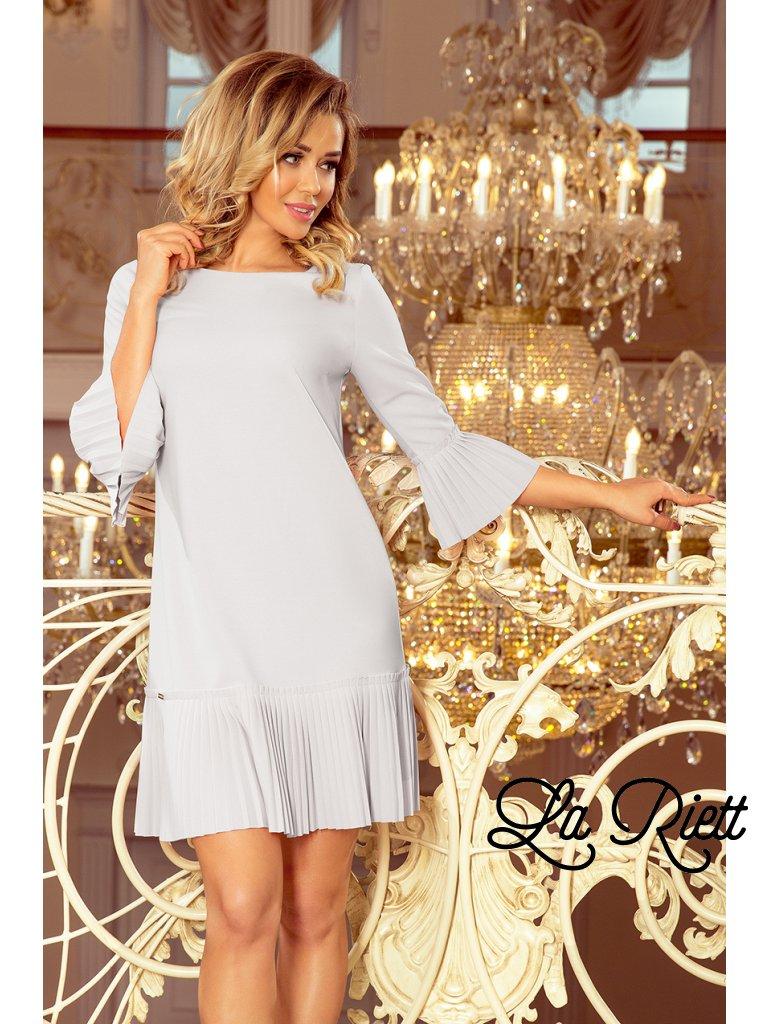 Šedé šaty LUCY 228-6