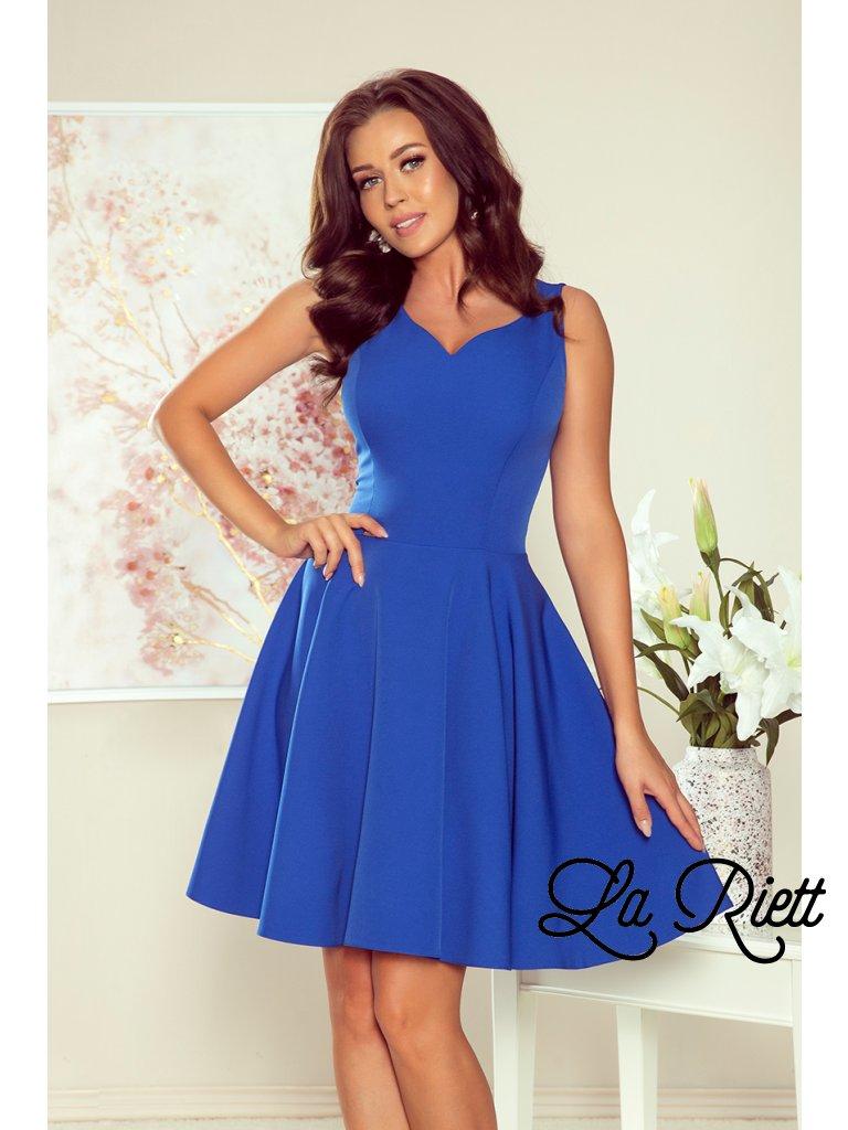 Šaty s kruhovou suknou modré 114-12