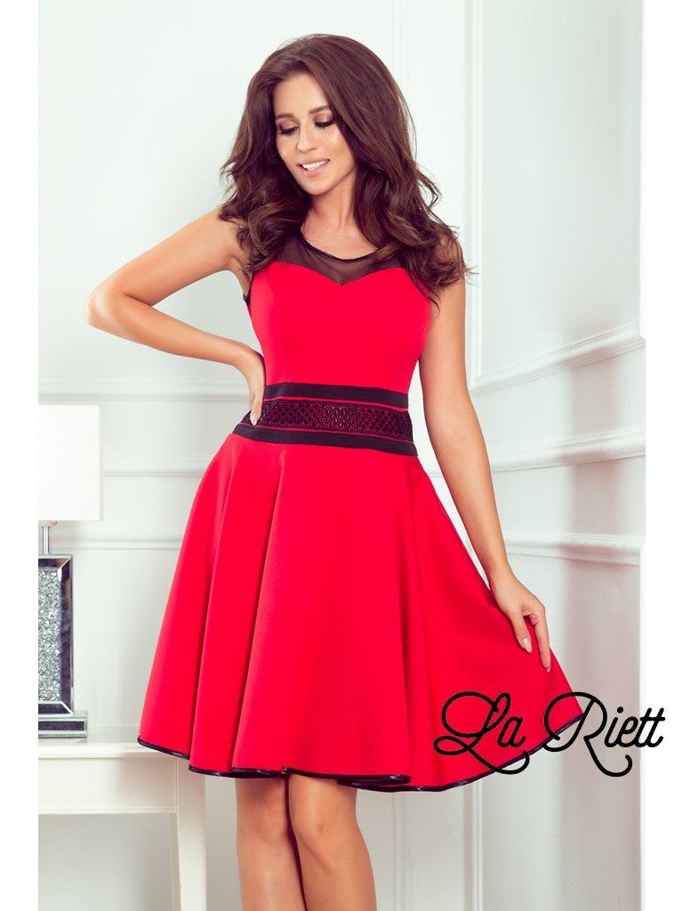 Červené spoločenské šaty RICA 261-1