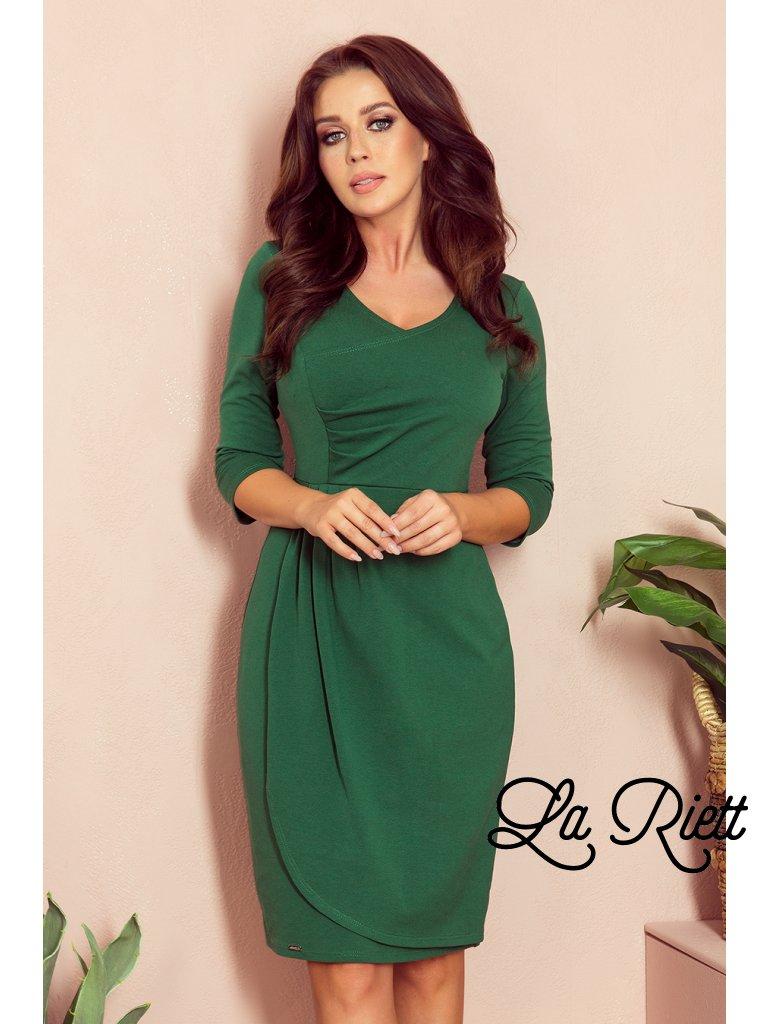 Puzdrové zelené šaty IRIS 255-2