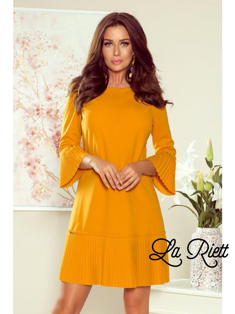 Horčicové šaty LUCY 228-7