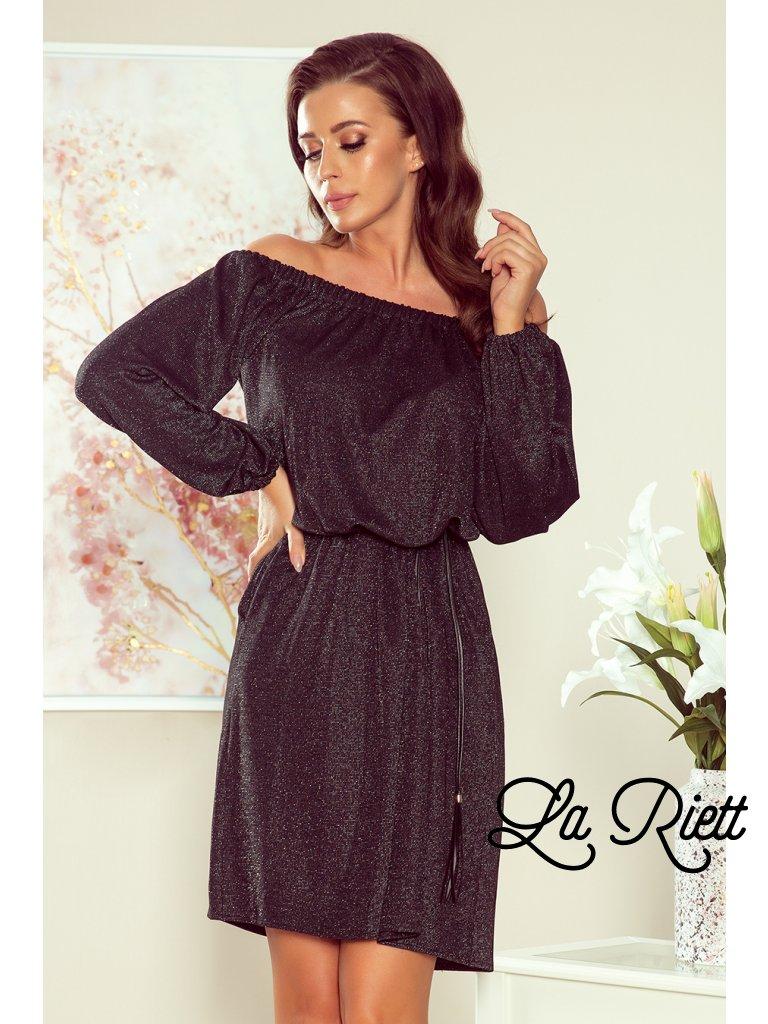 Elegantné dámske šaty s opaskom 270-2