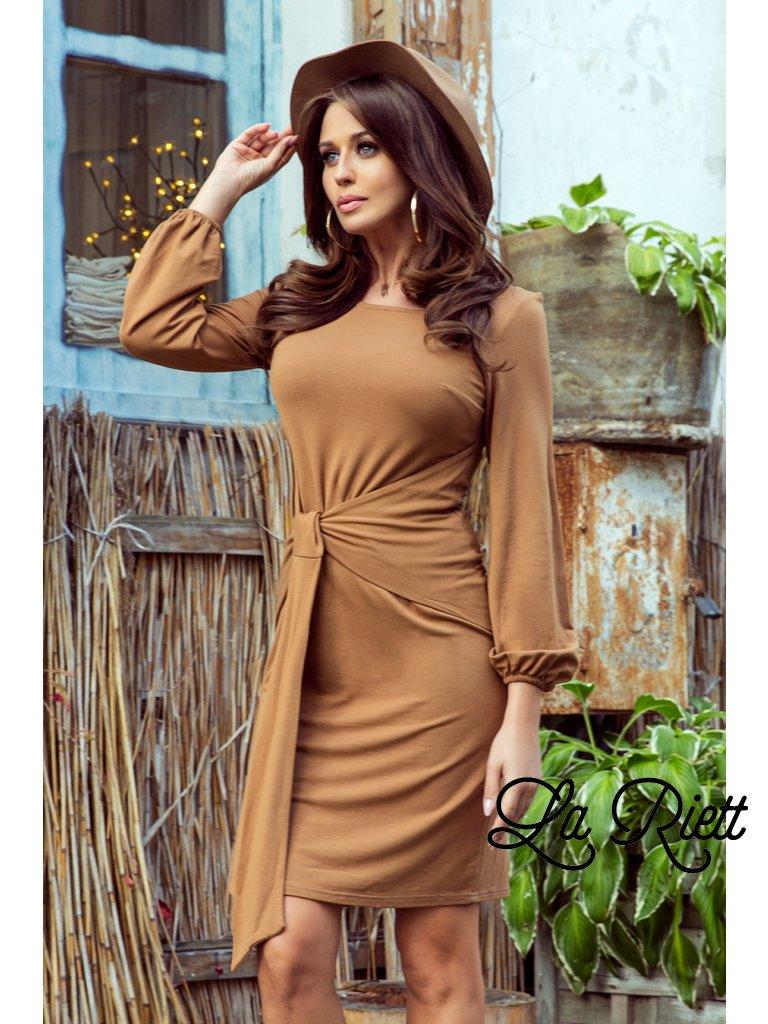 Elegantné hnedé šaty Jenny 275-1