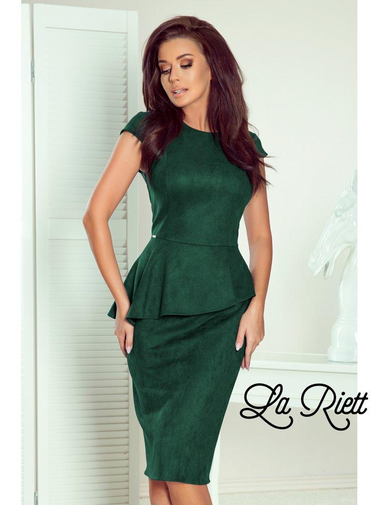 Elegantné šaty s volánikom 192-10