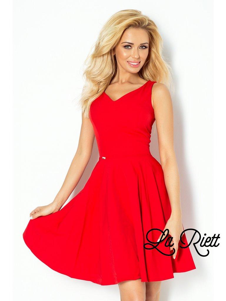 Dress circle - heart-shaped neckline - Red 114-3 (Veľkosť XL)