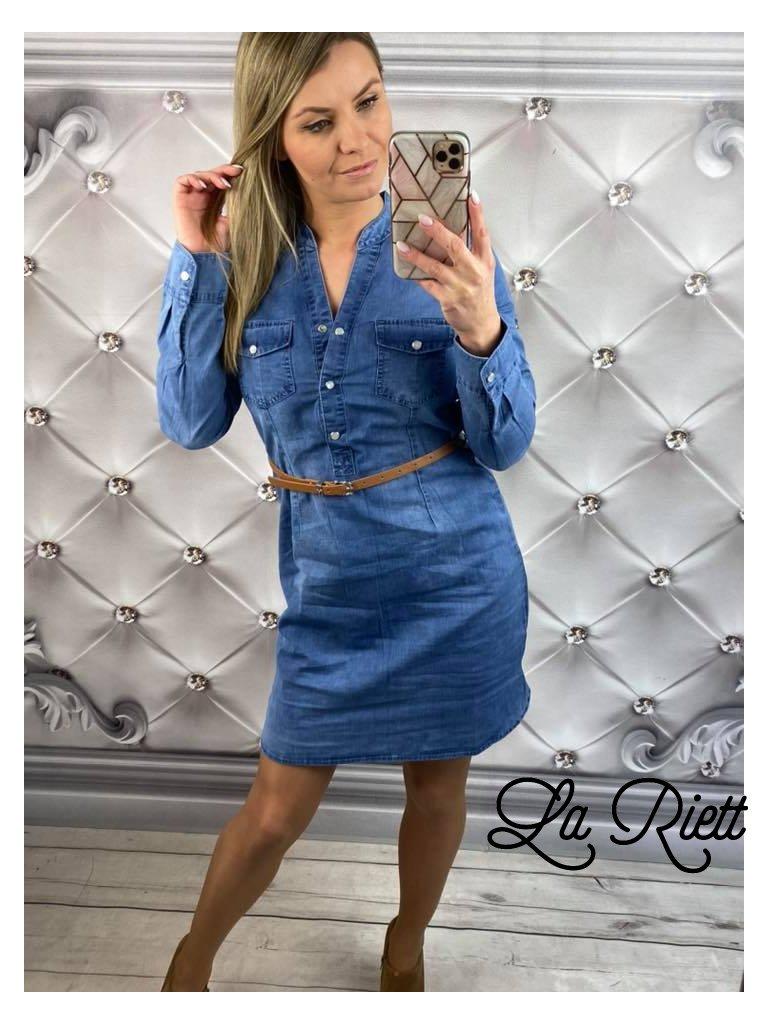 Riflové šaty Ak