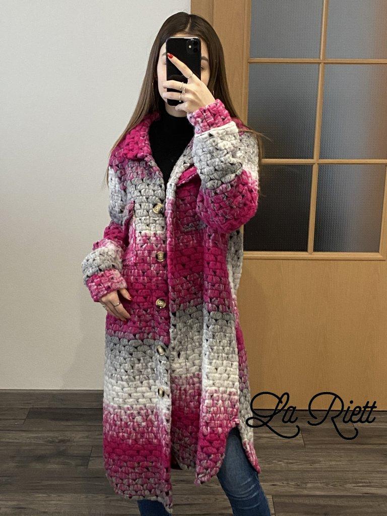Dlhý pletený kabát