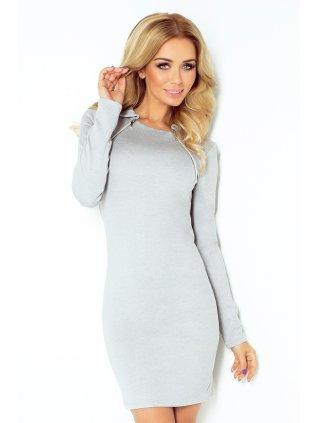 130-1 Dress with two zippers - gray (Veľkosť XXL)