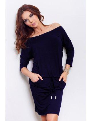Sporty dress - Navy Blue13-15 (Veľkosť XXL)