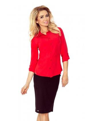 Dámska biznis bluzka červená 017-1
