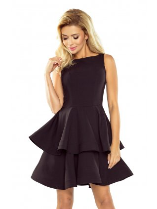 Elegantné šaty čierne 169-3