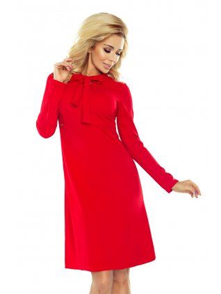 Dámske červené šaty 158-2