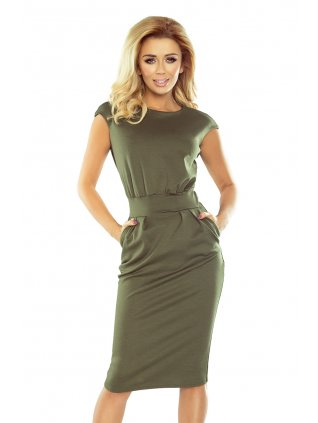 Dress midi SARA - khaki 144-5