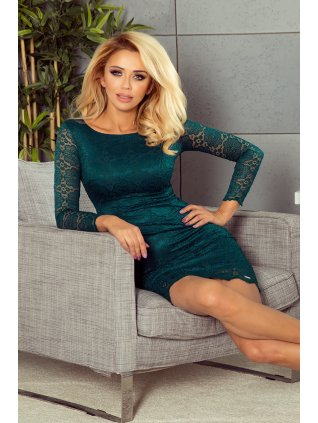 Dámske čipkované šaty zelené 180-2