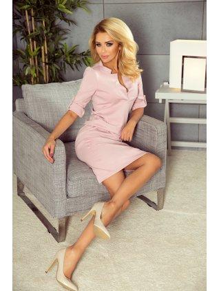 Elegantné pastelovo ružové šaty 161-5