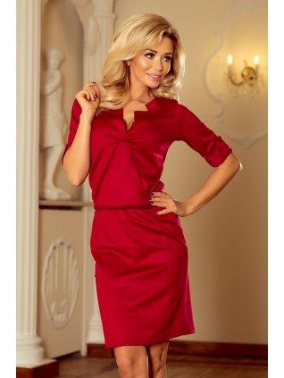 Elegantné vínové šaty 161-9