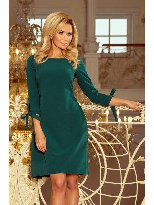 Šaty s viazanim  zelená 195-1