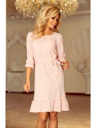 Dámske pastelovo ružové šaty 193-2