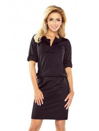 Elegantné čierne šaty 161-1