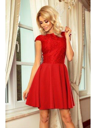 Elegantné červene šaty 157-8