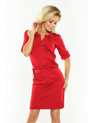 Elegantné červene šaty 161-11