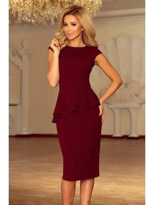 Elegantné šaty s volánikom 192-6