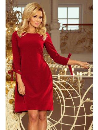 Šaty s viazanim  červené 195-3