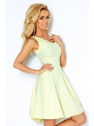 Dress circle - heart-shaped neckline - lemon 114-2 (Veľkosť XL)